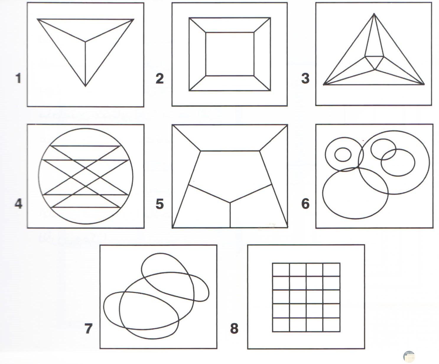 أشكال هندسية جاهزة للتلوين