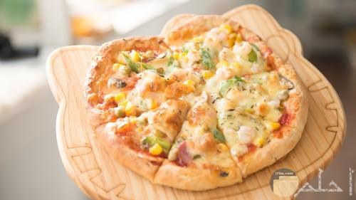 البيتزا بالموتزاريلا حجم صغير