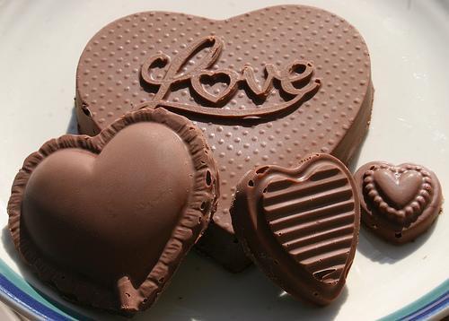 قلوب من الشيكولاتة