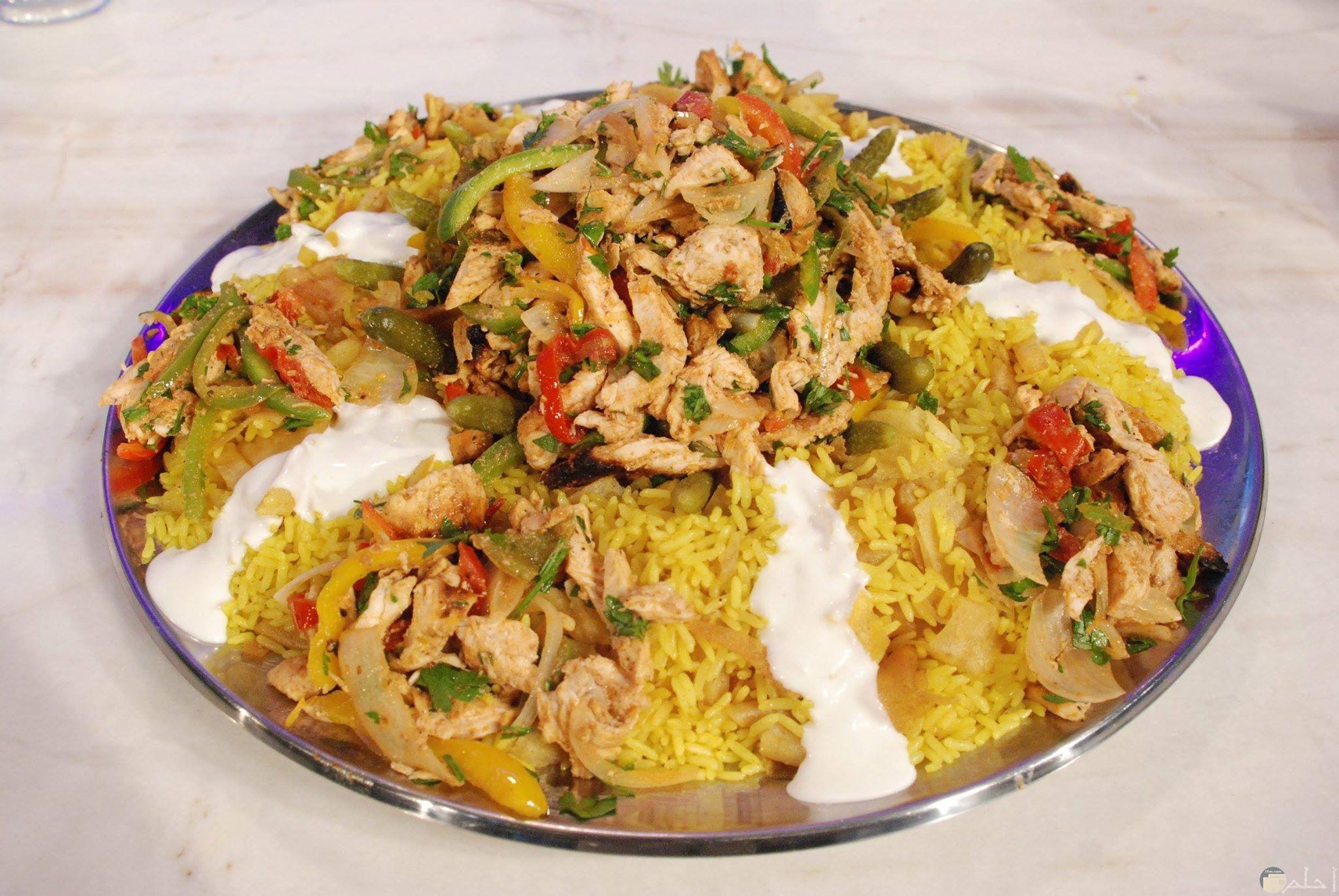 صورة لفتة الشاورما بالأرز بسمتى