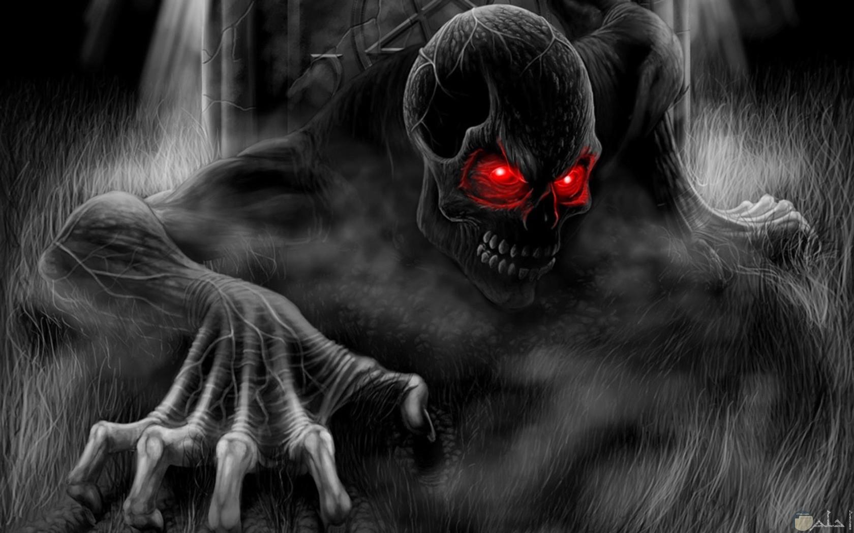 صورة مرعبة للشيطان
