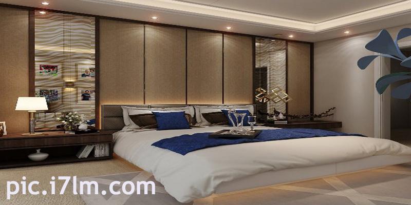 غرفة نوم مودرن من أحدى الفنادق الفاخرة
