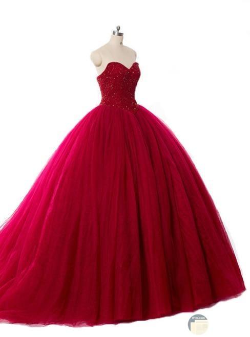فستان سهرة أحمر