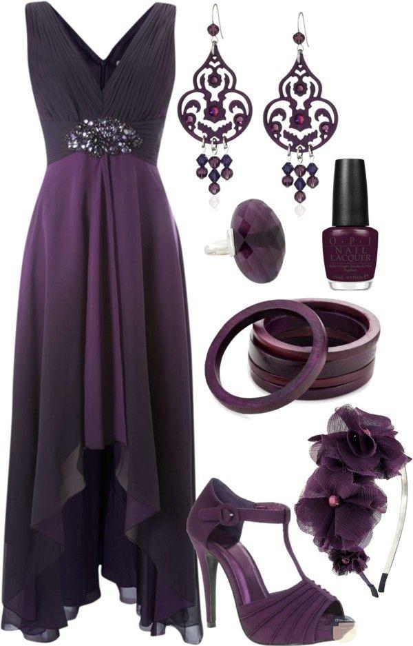 فستان سواريه بنفسجي