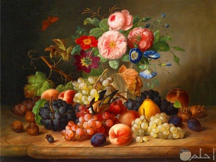 لوحة الفاكهة الجميلة