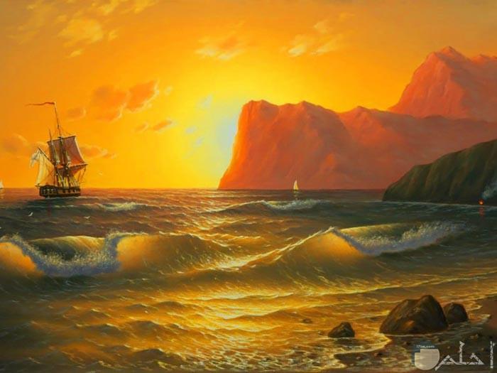 لوحة جميلة للبحر