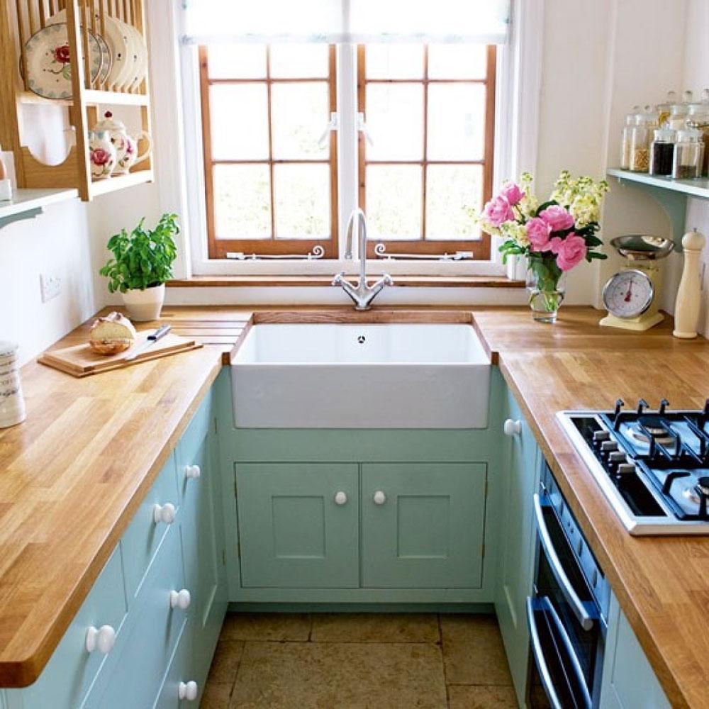 مطبخ صغير حرف U