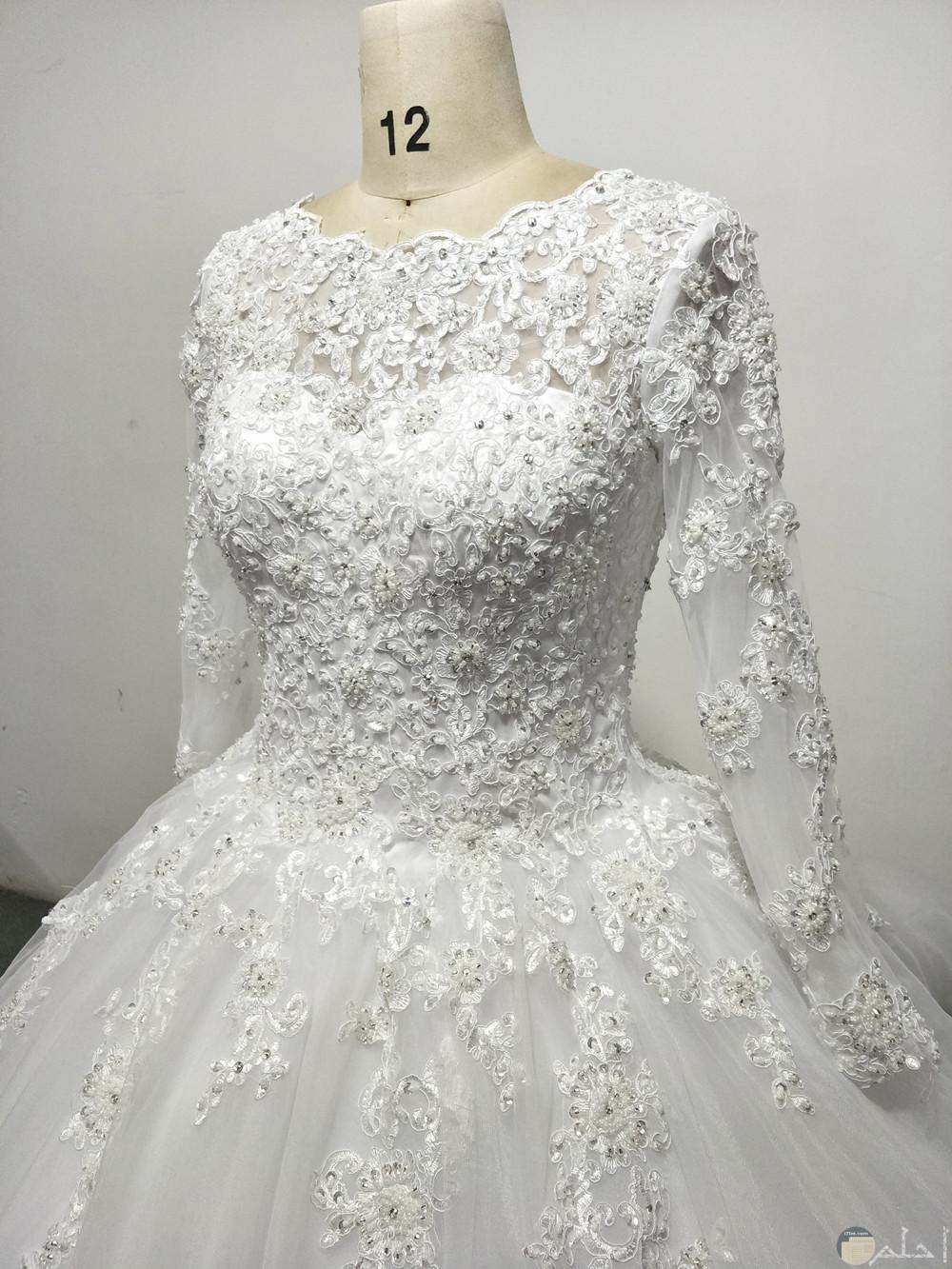 f091437d5 من أجمل بدلات الزفاف بكم شيفون من أجمل صور البدلات باكمام مطرزة