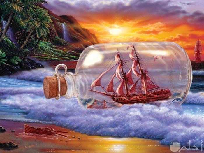 من أروع لوحات البحر