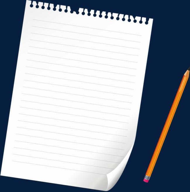 ورقة بيضاء مع قلم