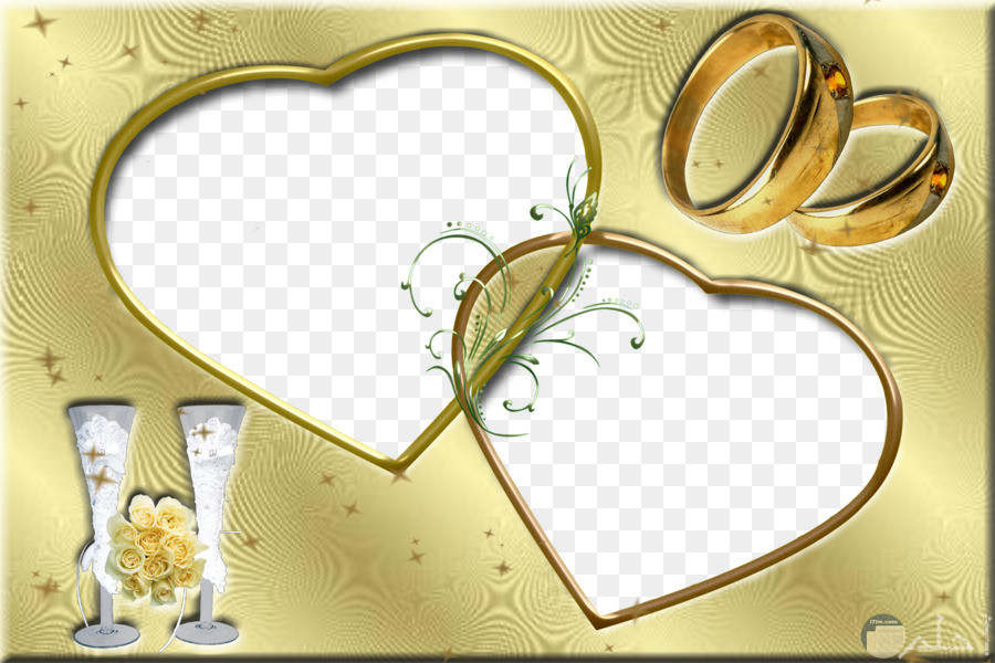 إطار رقيق لصورة الزفاف