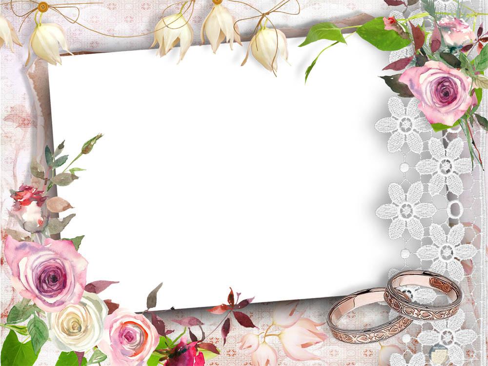 إطار صورة الزفاف