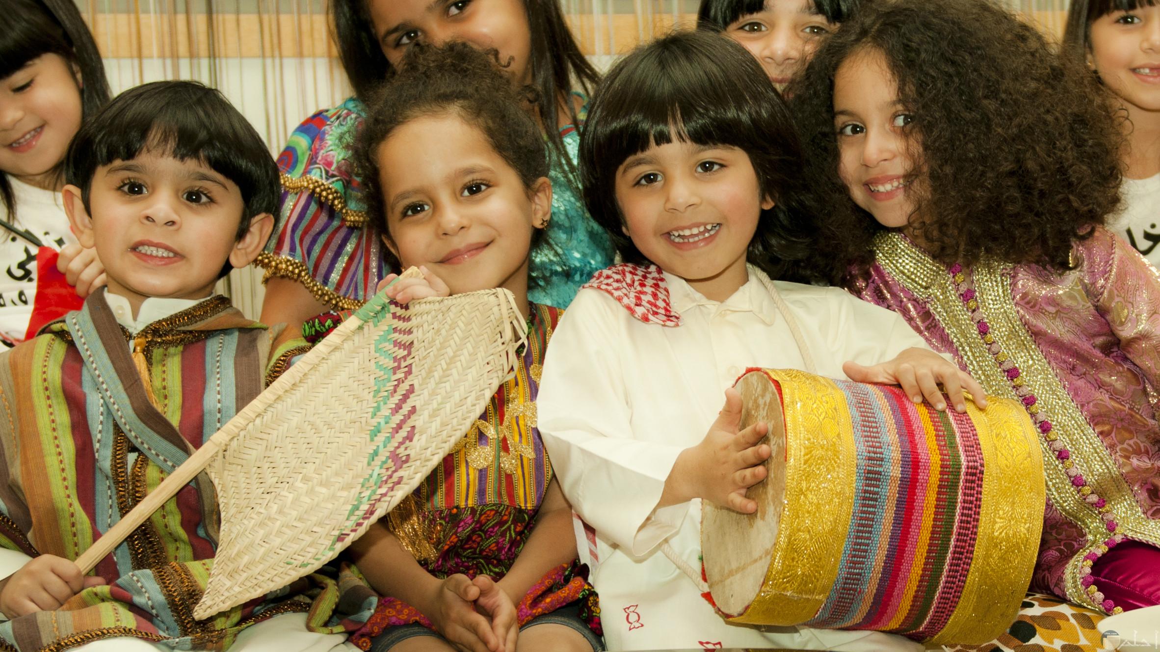 احتفال الأطفال بيوم قرقيعان