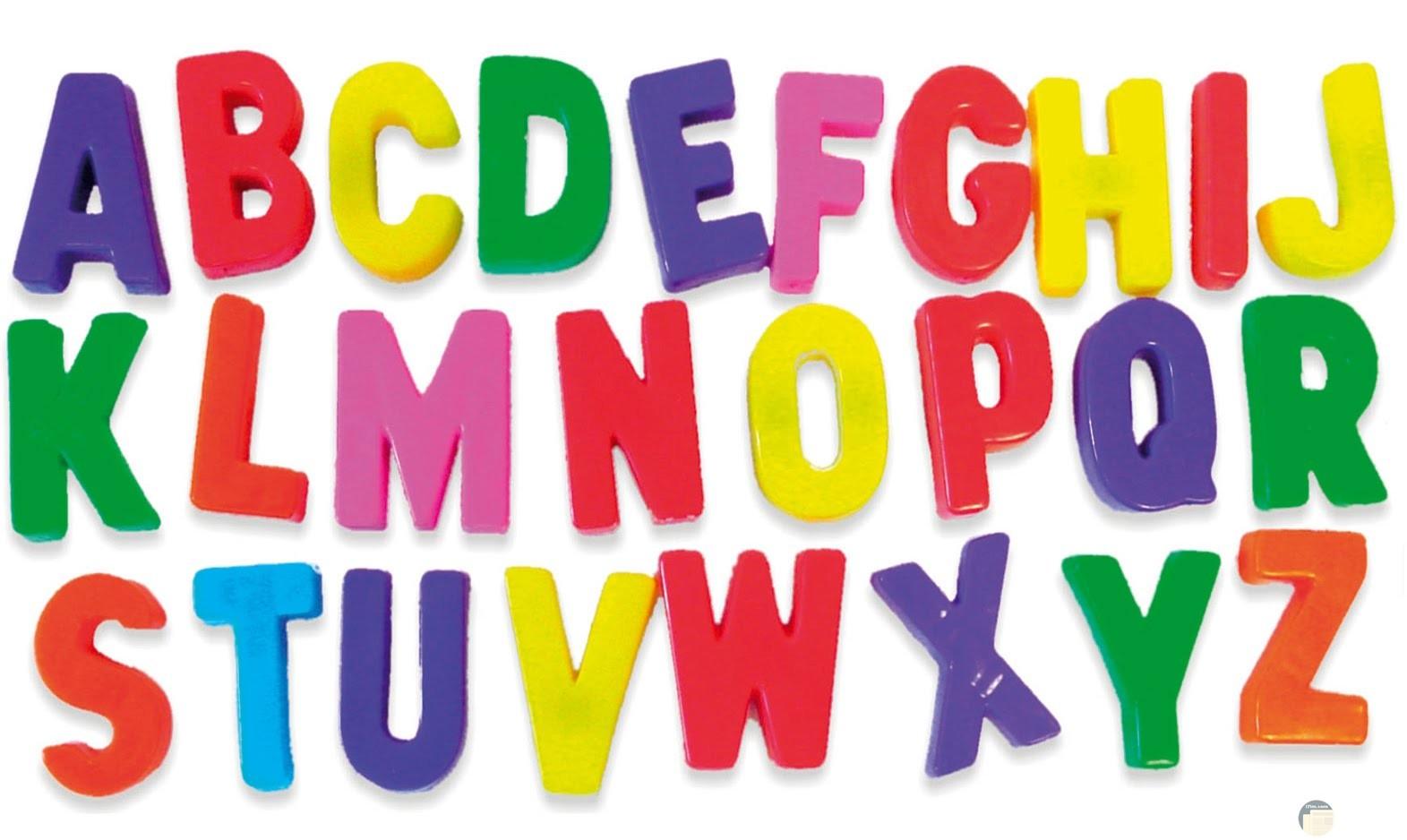 الحروف الانجليزي بالوان متعدده