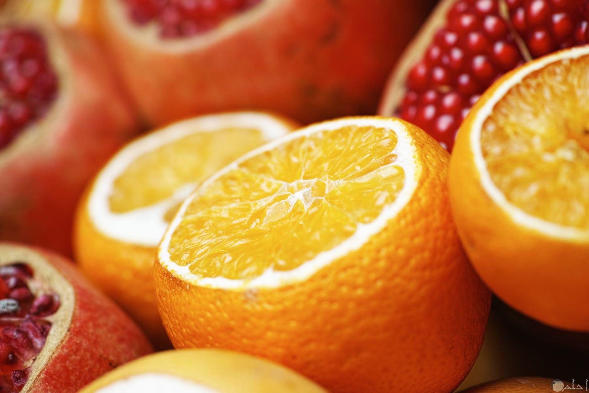 الرمان والبرتقال