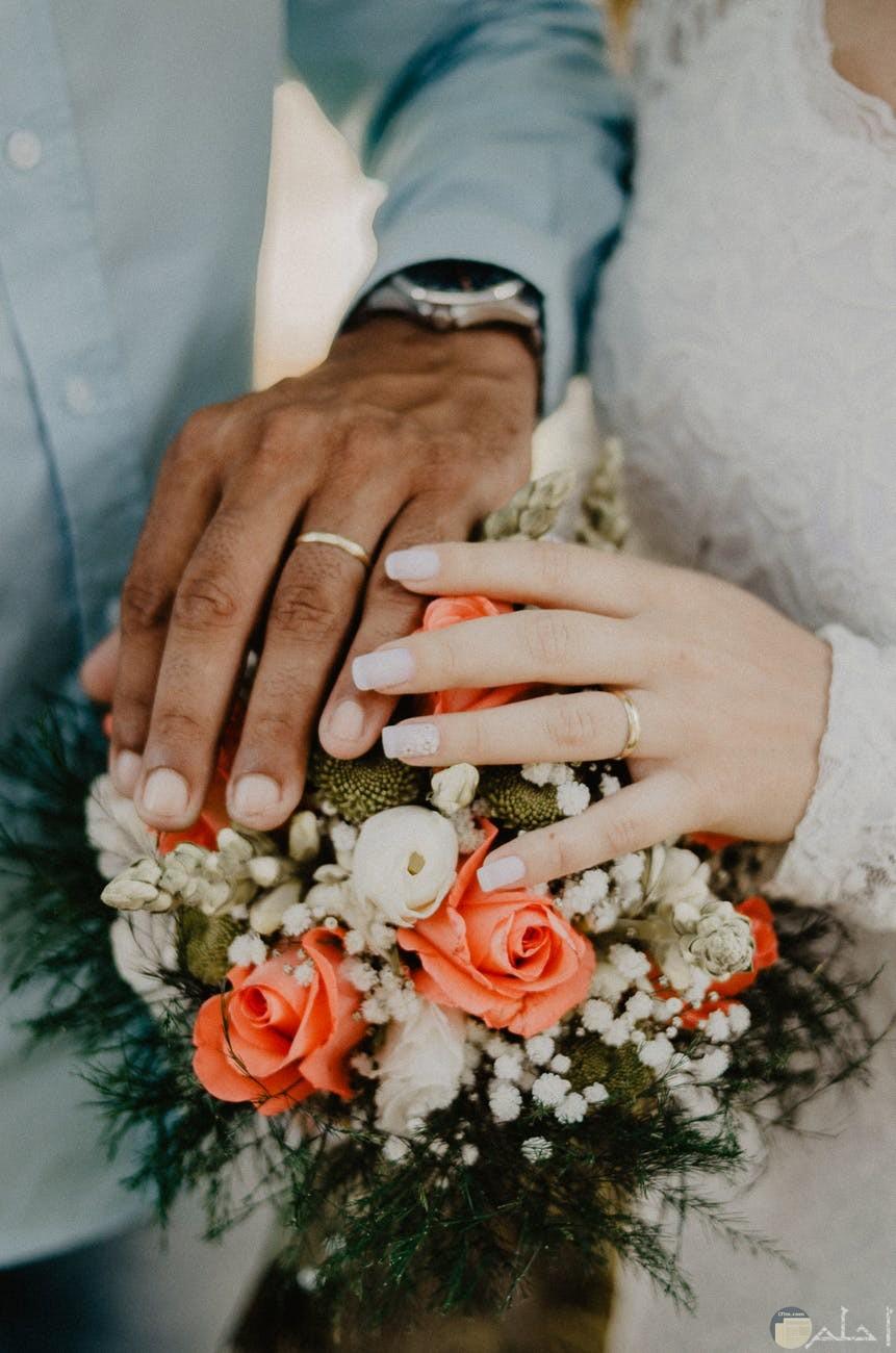 تمسك الازواج بايدي بعض والشعور بالحب
