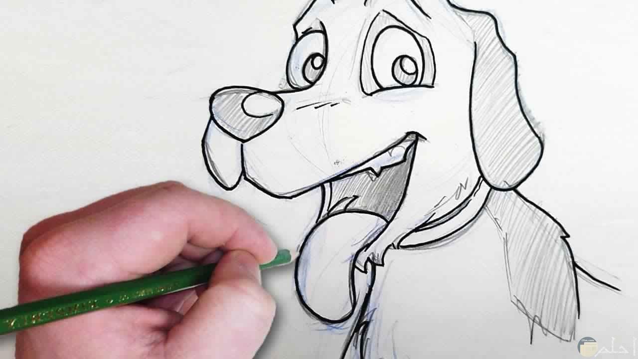 رسم صورة كلب بطريقة سهلة