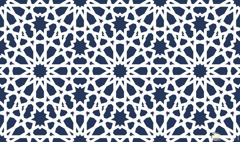 زخرفة إسلامية أبيض وأسود
