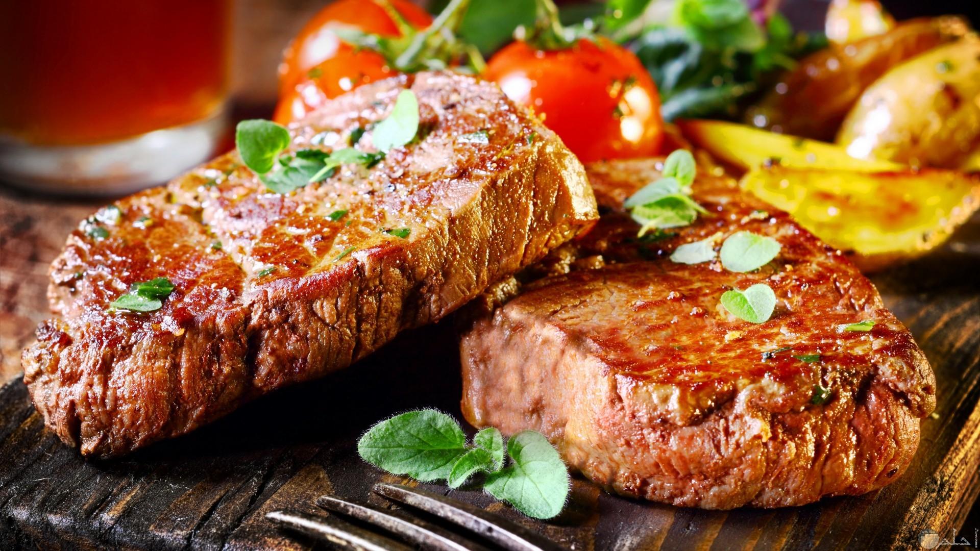 ستيك اللحم بالريحان