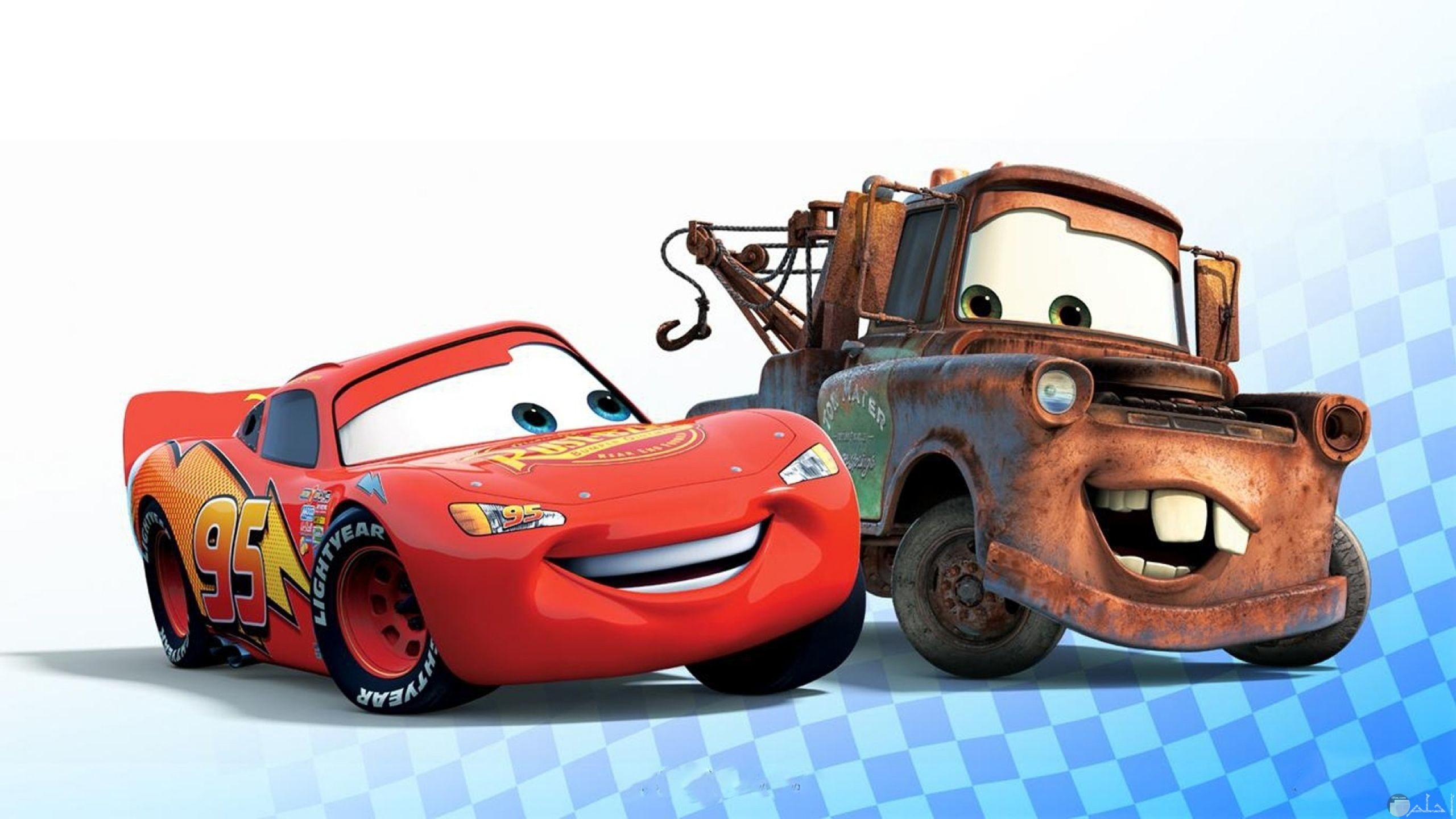 صورة سيارات كرتون سباق للأطفال برق بنزين وصديقه
