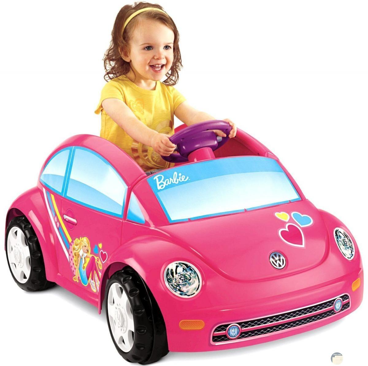 سيارة للبنات بأشكال باربي