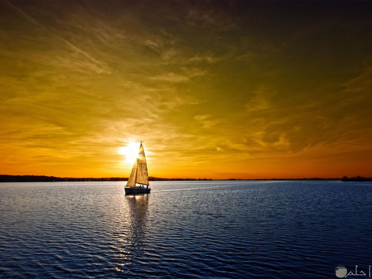 صورة رائعة لغروب الشمس