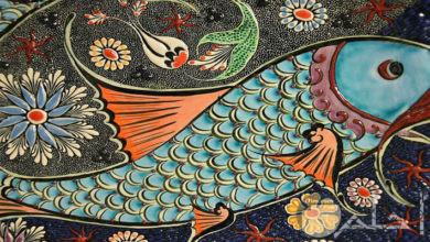 صورة زخرفةلسمكة ملونة