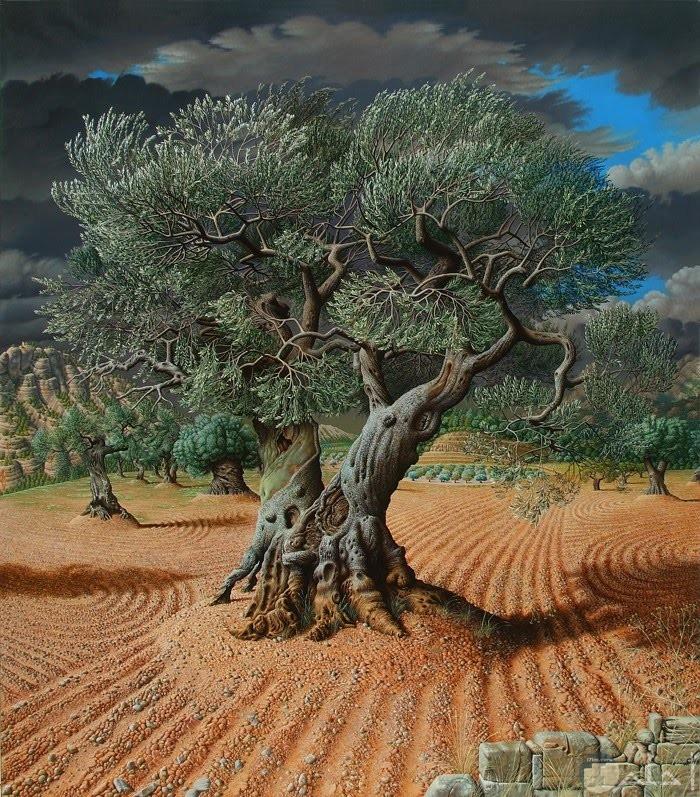 لوحة شجرة الزيتون