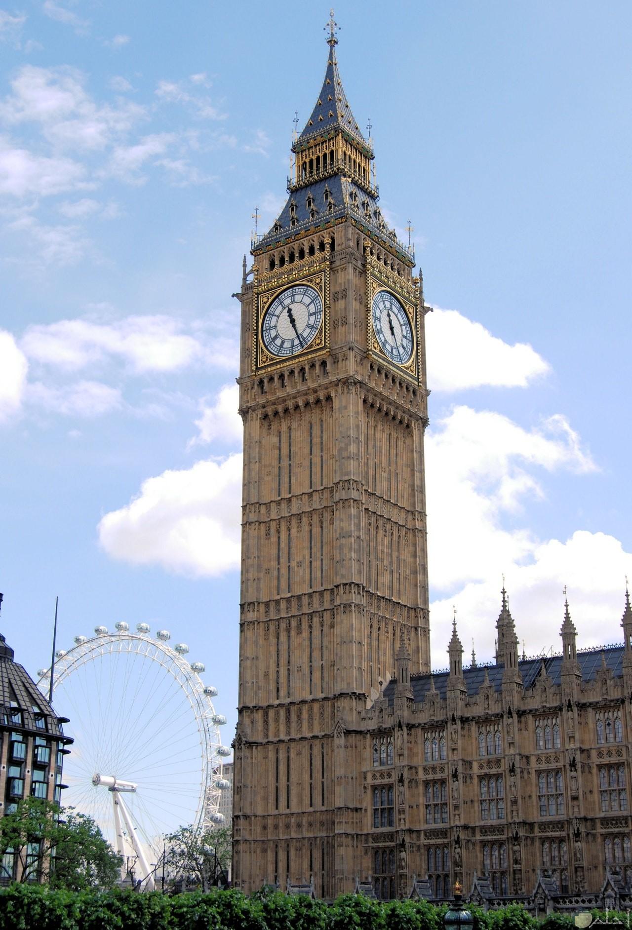 صورة جميلة لساعة بيج بين المشهورة بلندن