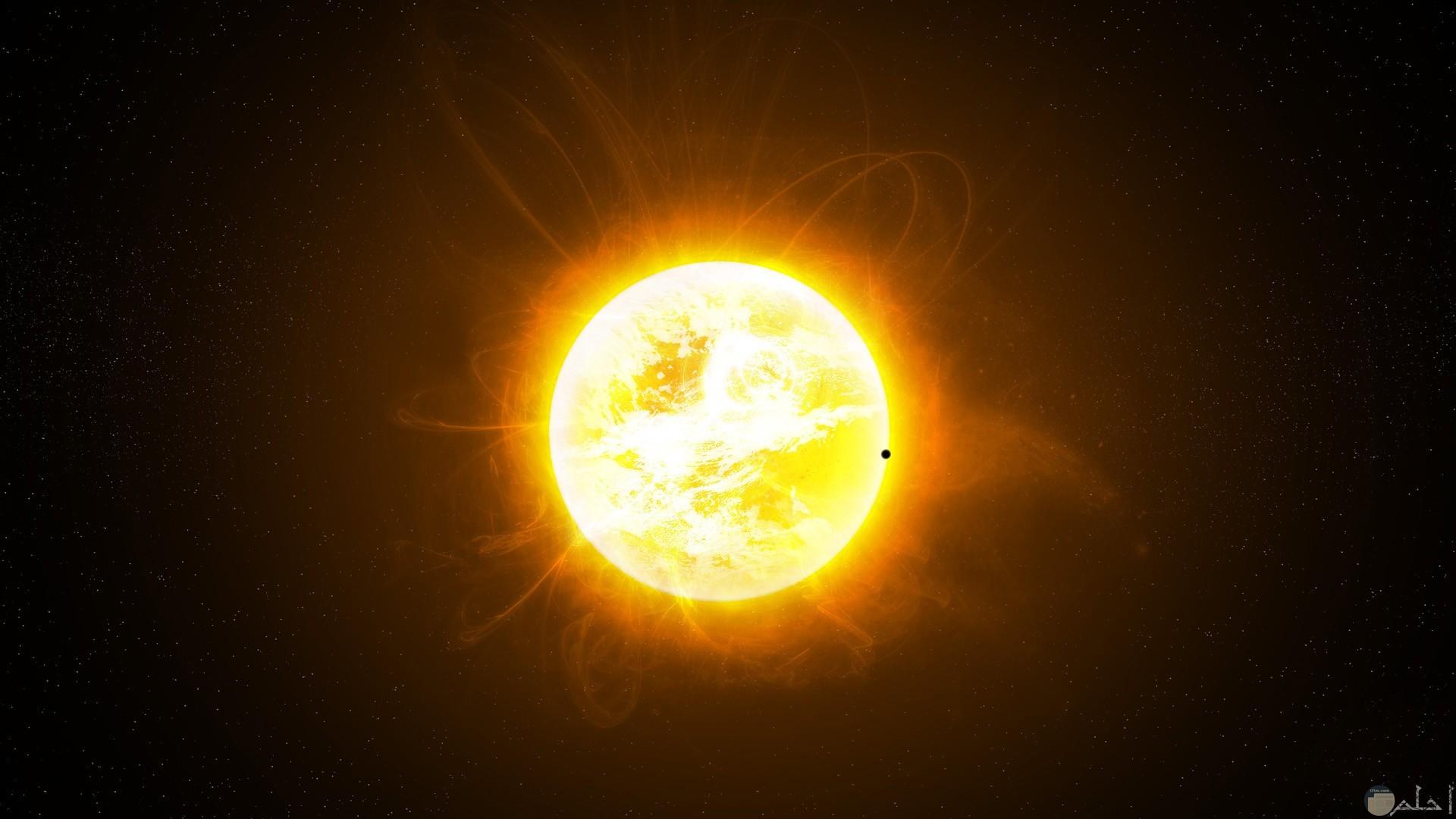 صورة قريبة للشمس