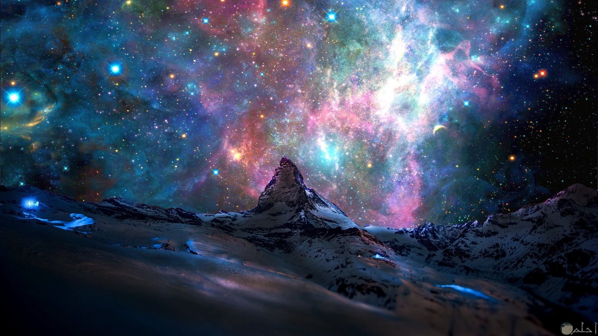 صورة يظهر فيها السماء مزينة بالنجوم جميلة كخلفية للكمبيوتر