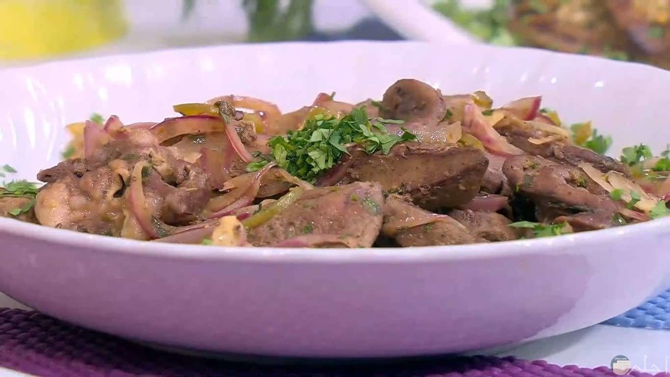 طبق اللحم الشهي