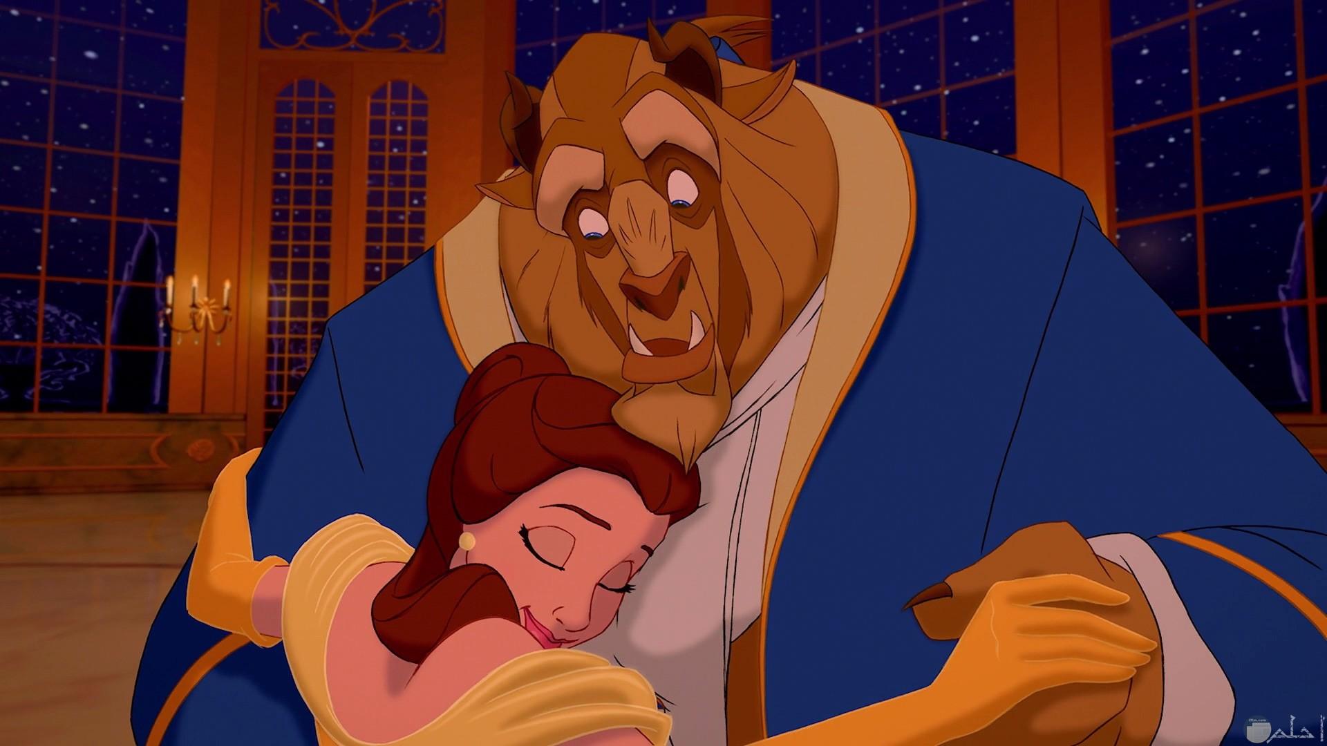 قصة حب الأميرة بل والأمير المسحور في صورة وحش
