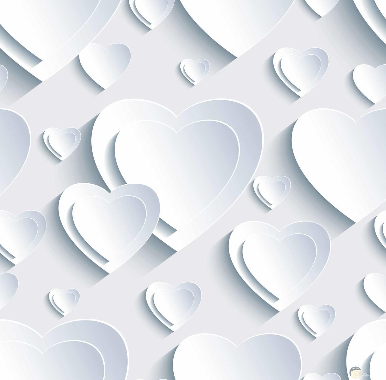 قلوب بيضاء 3D