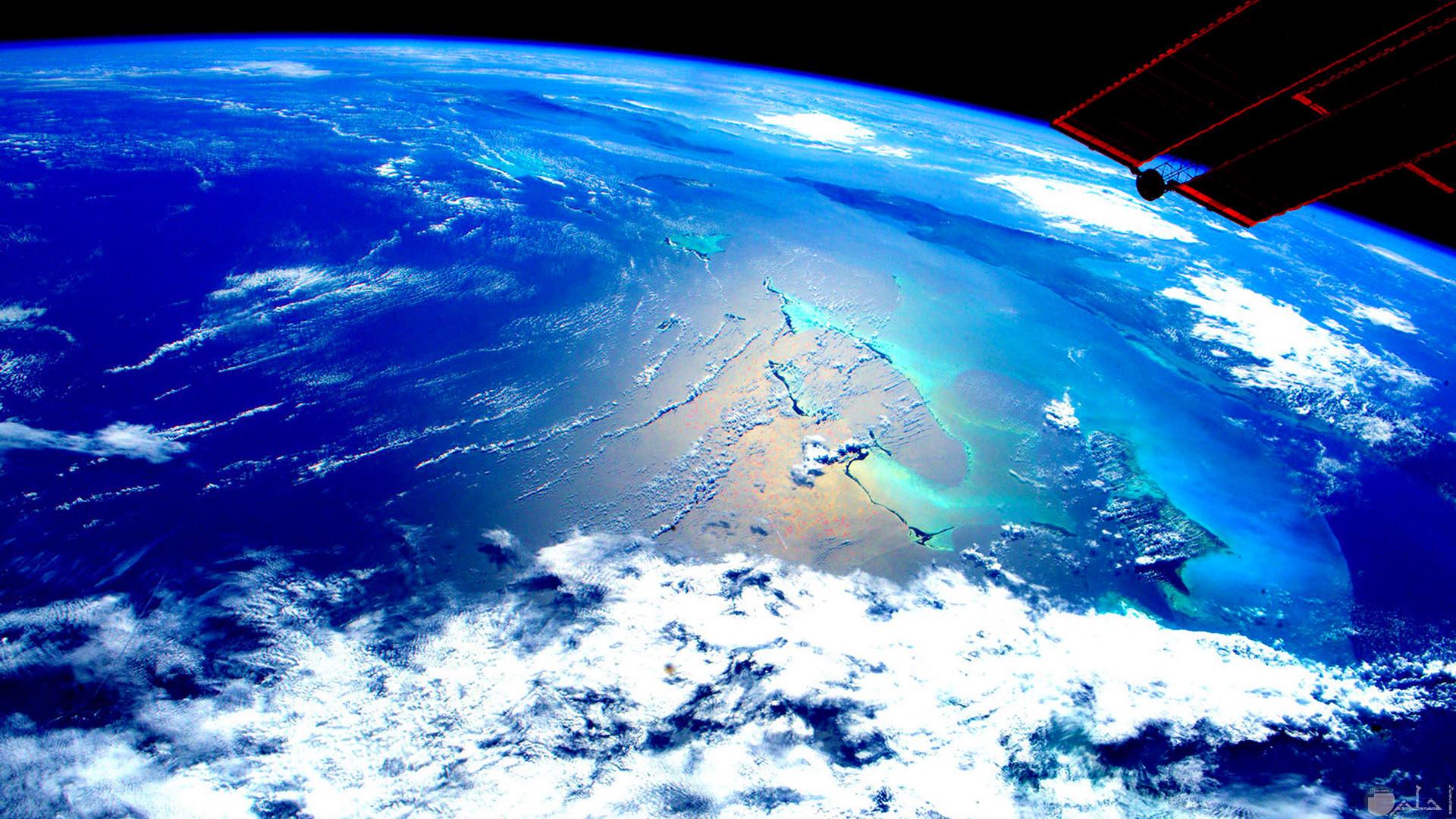 صورة توضح المعني الفعلي لكوكبنا الازرق الجميل من الفضاء