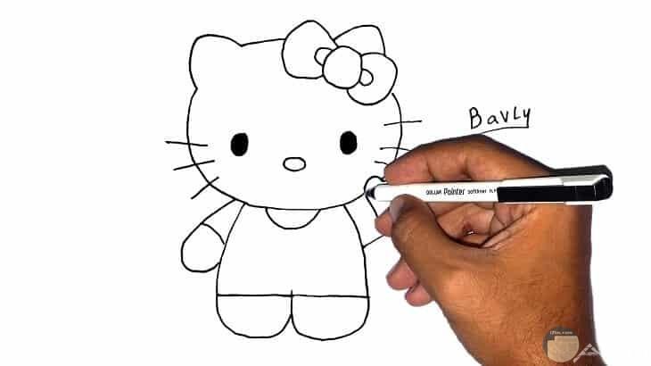 كيف ترسم قطة صغيرة