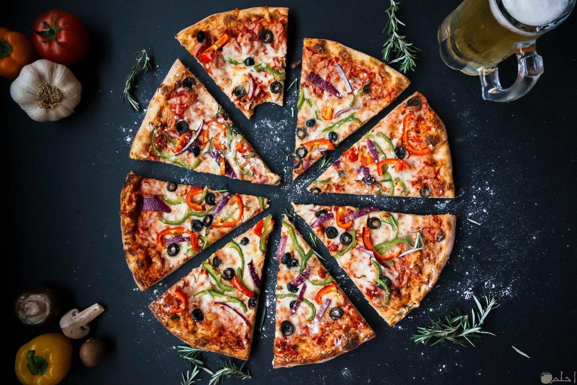 محبي البيتزا في الفطار