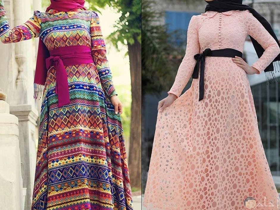 فستانين خروج للمحجبات رائعيين جدا والوانهم جميلة