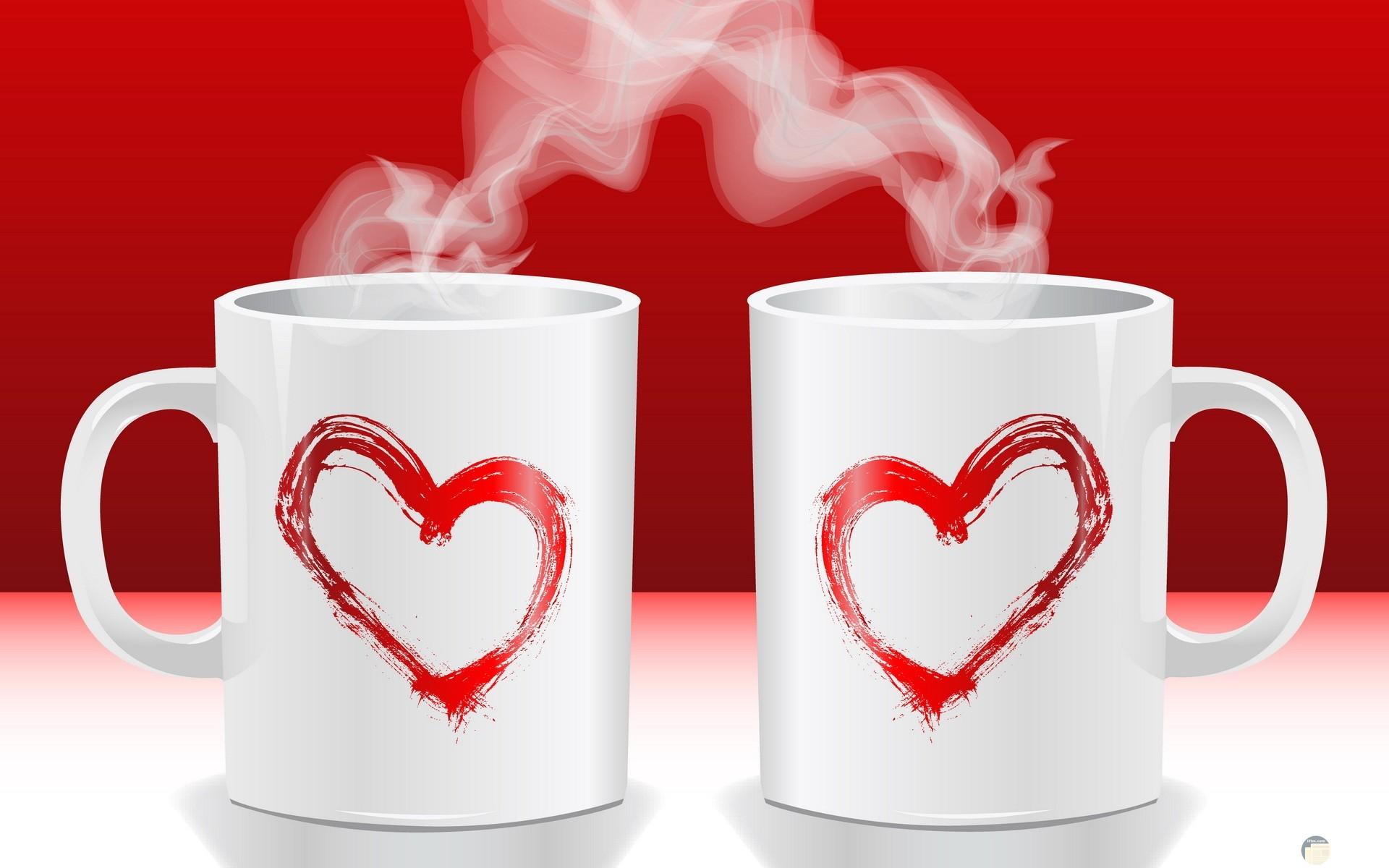 قلوب حمراء رقيقة