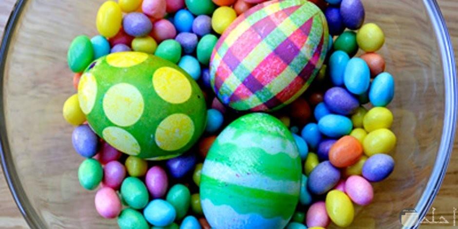 صور بيض مع الحلوى