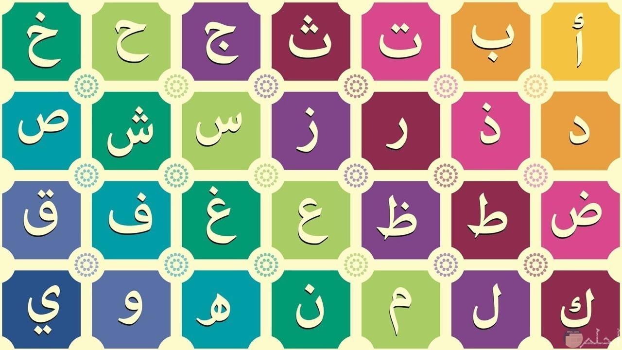 حروف اللغة العربية