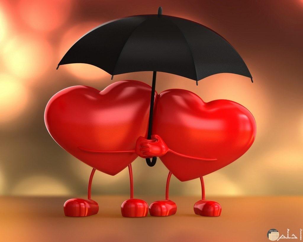 صورة قلبين مترابطين