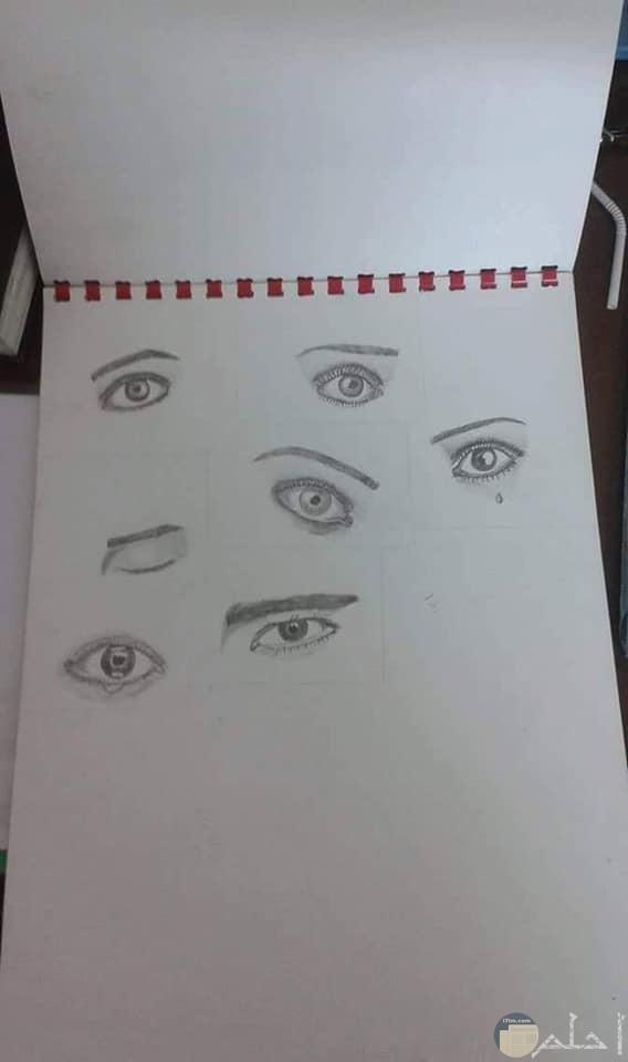 صور رسومات بالرصاص للعيون