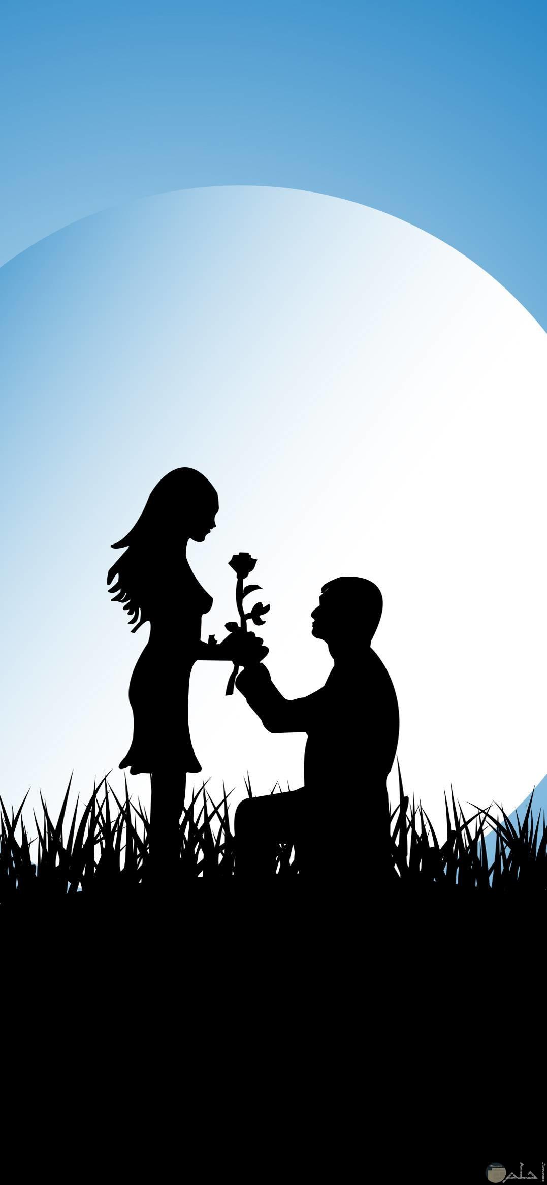 اعطاء المحبوب وردة من علامات الحب