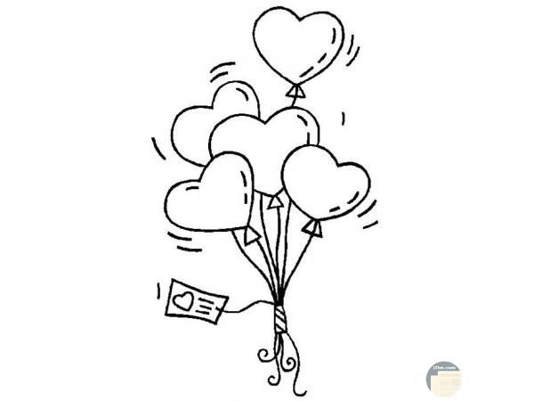بالونات حب قلوب