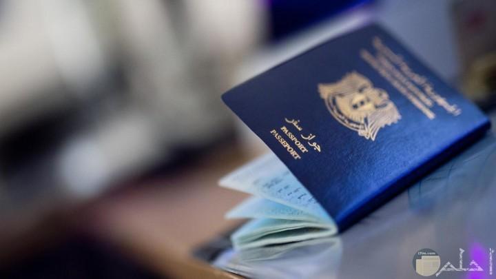 جواز سفر أزرق