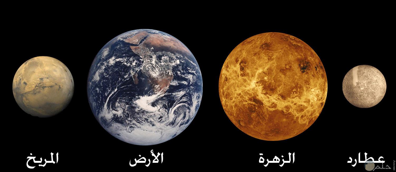 صورة باسماء 4 كواكب