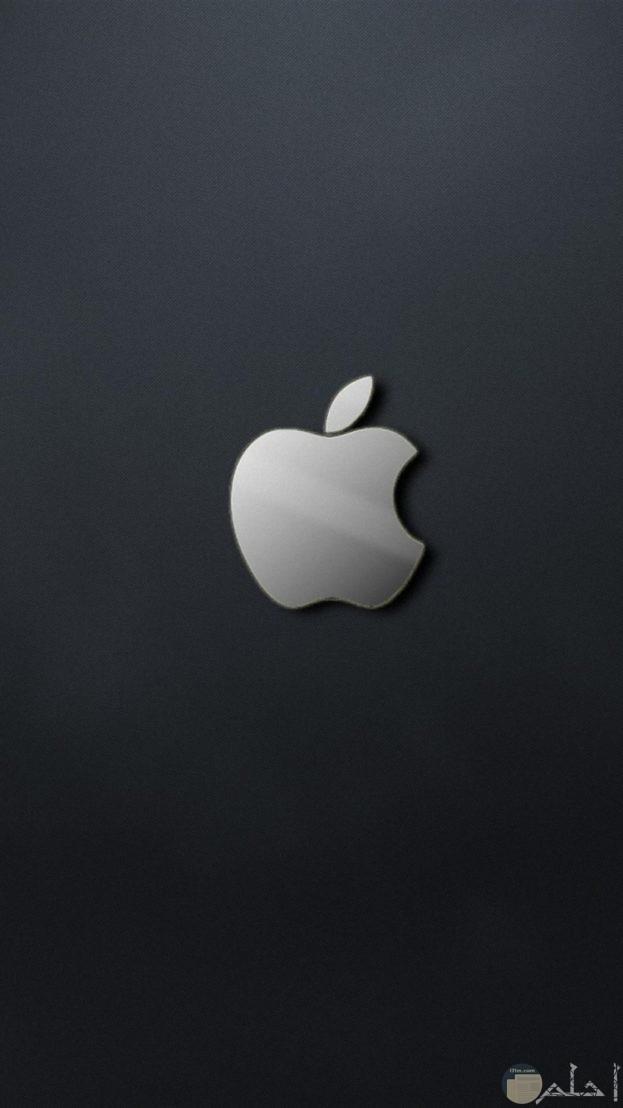 خلفية سوداء لشعار الايفون