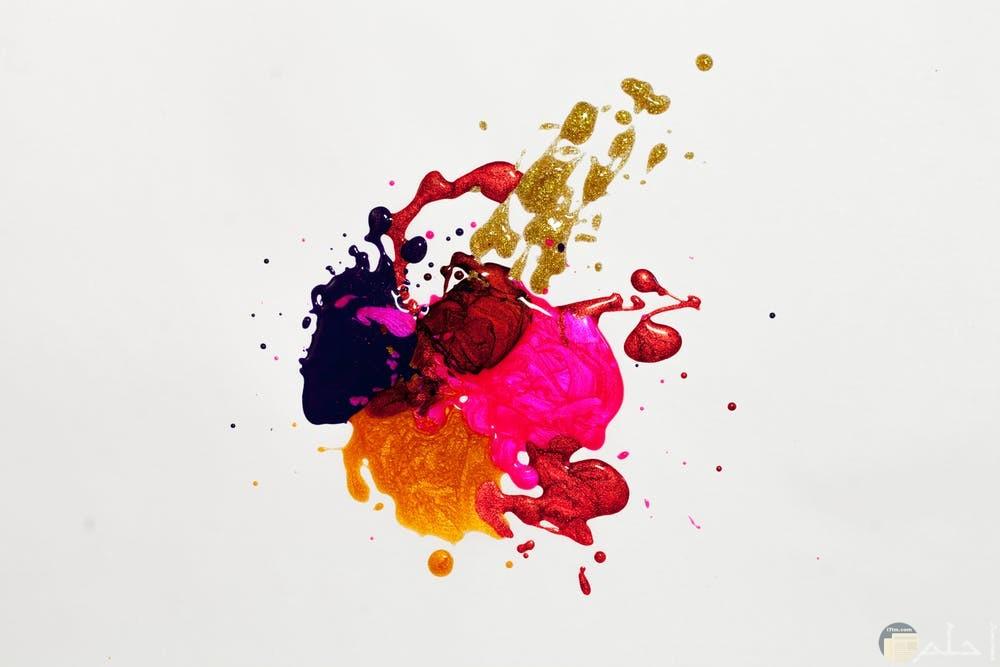 صور ألوان مع خلفية بيضاء
