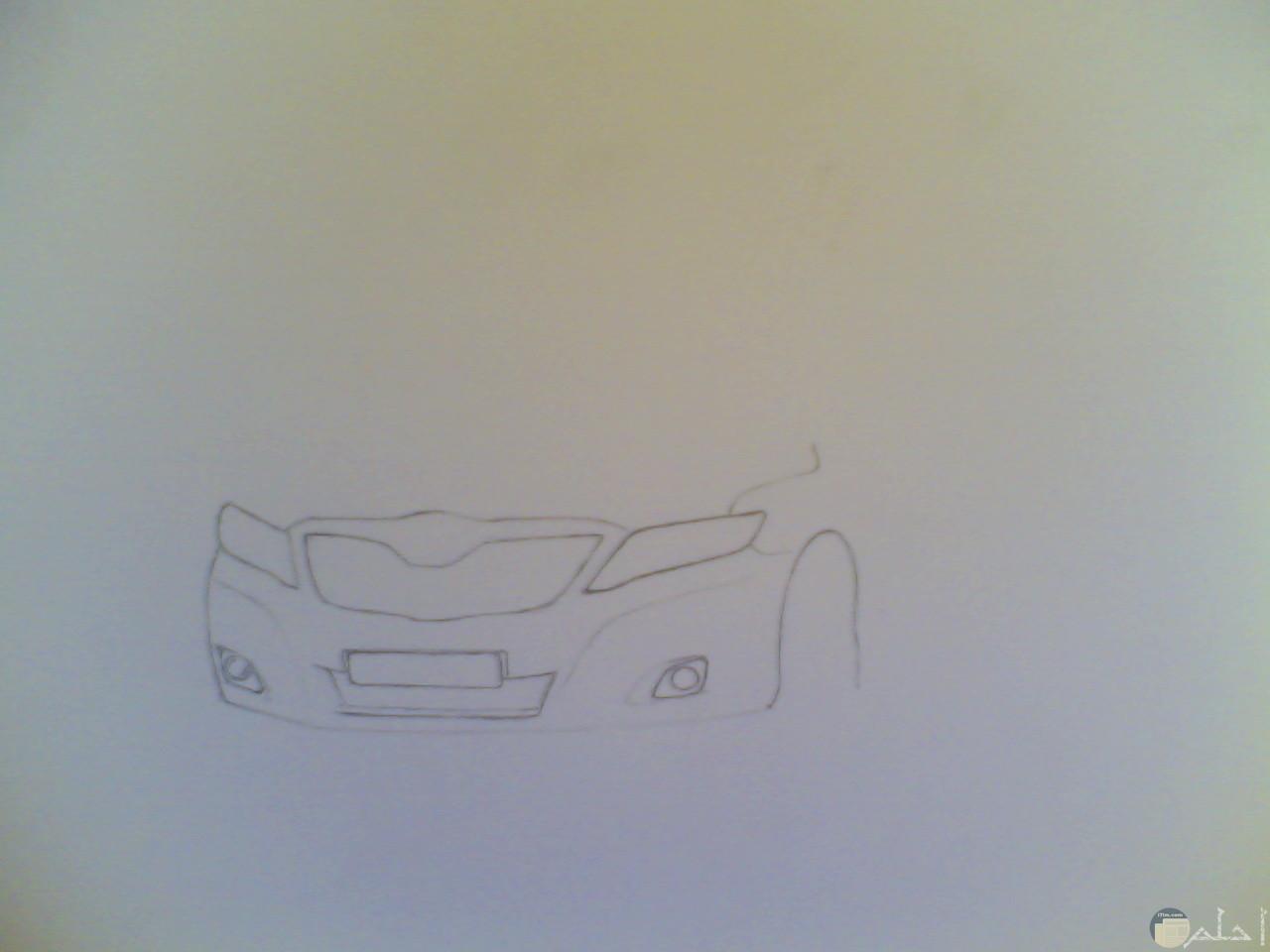 ثم نرسم وجة السيارة